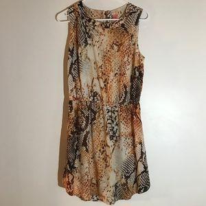 Snake Print Sun Dress